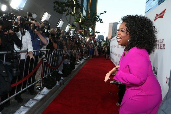 "Oprah Winfrey appears at the Los Angeles premiere of ""The Butler."""