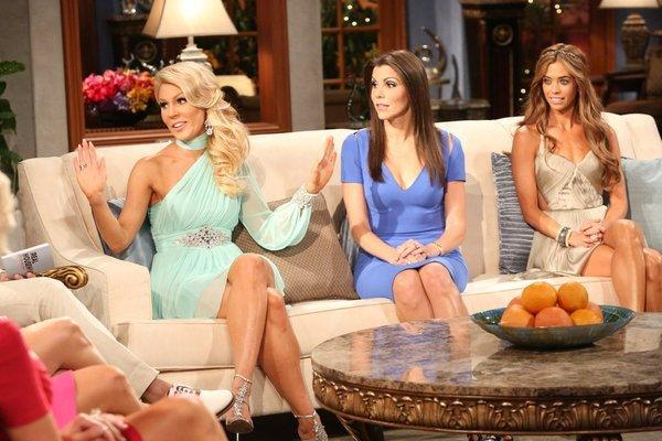 L-R: Gretchen Rossi, Heather Dubrow, Lydia McLaughlin at the reunion.