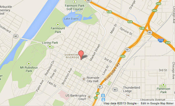Approximate location, shown in red, where a woman was attacked by two pit bulls.