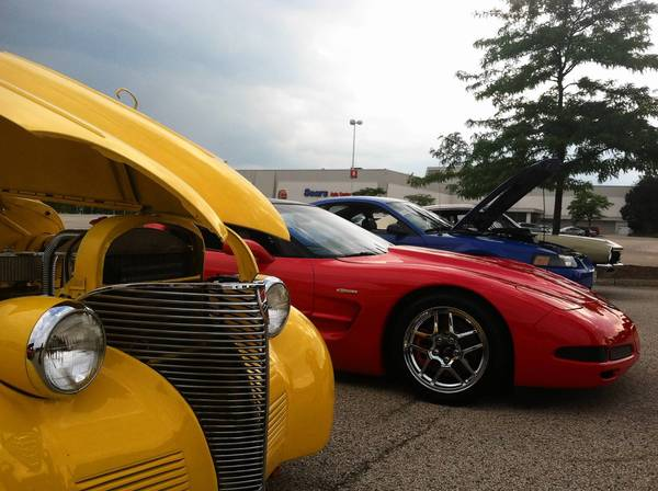 Cars line up for Vernon Hills' Motorsport Mondays on Milwaukee, the newest car show in the Northwest suburbs. Started by members from the Vernon Hills Police Department, the group aims at collecting food and clothing for charitable organizations.
