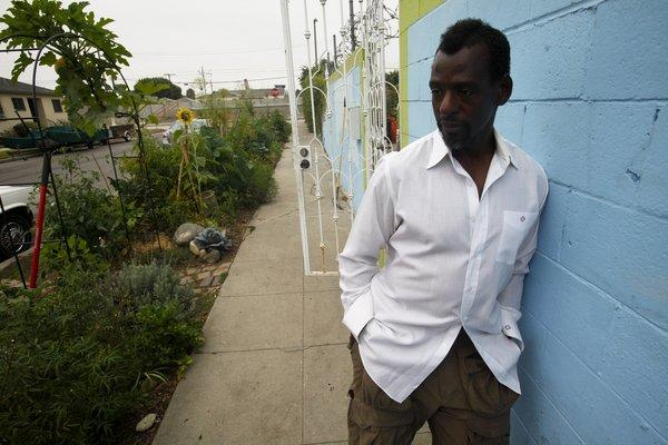 Ron Finley raises vegetables, flowers and some fruit in a garden on the side of his South Los Angeles home and shares his bounty with neighbors. The city of Los Angeles doesn't like the garden, which is actually on a city parkway strip, and wants Finley to remove it.