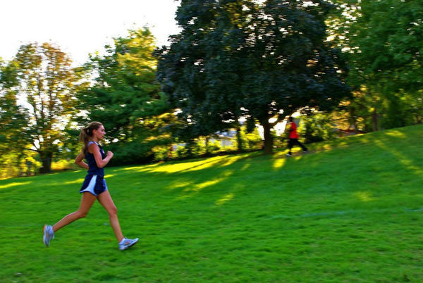 Evanston cross country runner Mamie Tabet has steadily improved over her three years on the team.