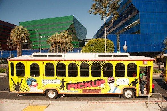 Hop on the PickUp trolley in West Hollywood, which covers a four-mile stretch of Santa Monica Boulevard. City leaders hope the free shuttle will ease traffic woes.