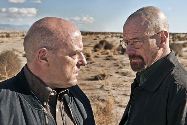 "Hank (Dean Norris), left, and Walt (Bryan Cranston) in ""Breaking Bad."""