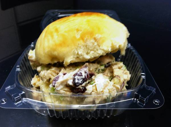 Food find: Chicken salad on a roll at Vincent's Gourmet Italian Ice