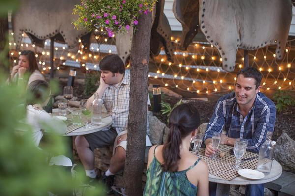 The patio at Briciola