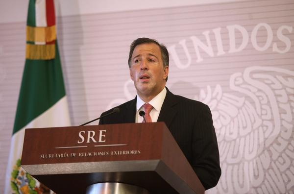 Mexico's Foreign Secretary Jose Antonio Meade, pictured in June, said Tuesday that his government would try to reverse an appeals court ruling that led to the release of a reputed drug kingpin imprisoned for the 1985 slaying of a U.S. narcotics agent.