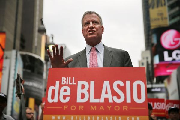 New York mayoral candidate Bill de Blasio