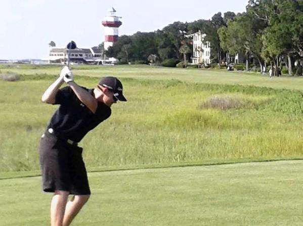 Mike Gilmartin, a junior at Catasauqua High School, attended the Hank Haney International Junior Golf Academy this summer as part of a First Tee program. Gilmartin, pictured playing the 18th hole at Harbour Town Golf Links, was an instructor for The First Tee Lehigh Valley.