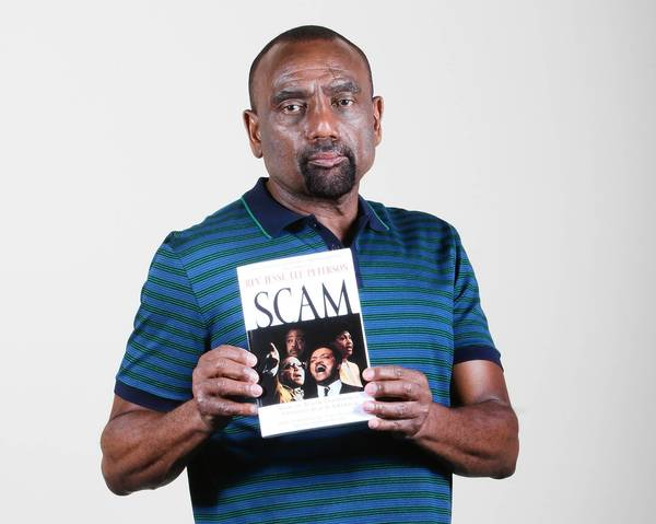 The Reverend Jesse Lee Peterson, head of the South Central L.A. Tea Party, at his studio.