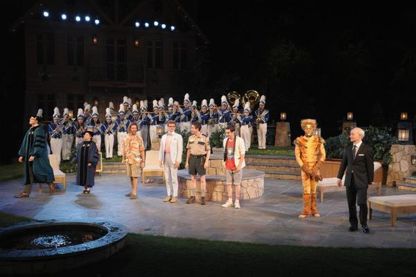 "Curtain call for the Public Theater's ""Love's Labour's Lost"" at the Delacorte Theater in Central Park in New York."