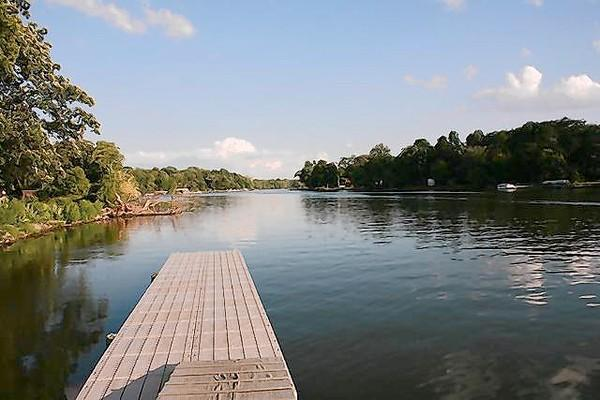 Riverwoods' dock on the Fox River is shown here.