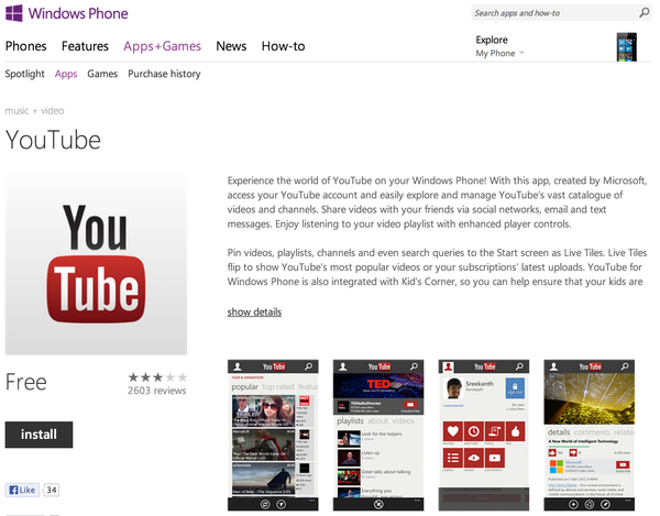 Microsoft's YouTube app has returned to Windows Phone, now with the addition of ads.