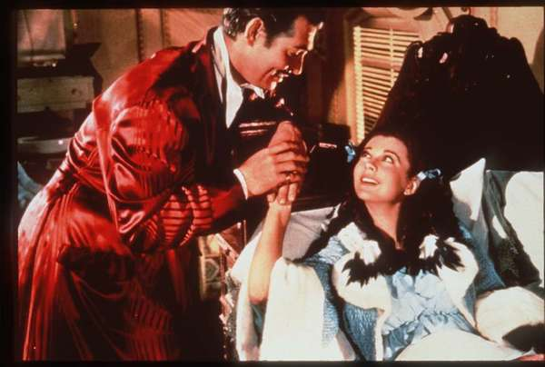 "London's Victoria and Albert Museum has acquired the archive of British actress Vivien Leigh, seen with Clark Gable in the 1939 classic ""Gone With the Wind."""