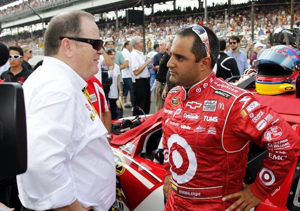 Chip Ganassi, left, has parted ways with NASCAR driver Juan Pablo Montoya.
