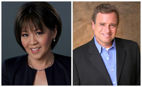 Joie Chen and John Seigenthaler