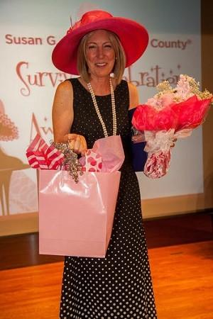Orange County Sheriff Sandra Hutchens spoke about her battle with breast cancer Sunday at the Komen Orange County Survivor Celebration & Awards Luncheon at the Oasis Senior Center in Corona del Mar.