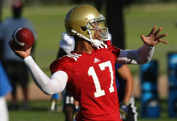 UCLA quarterback Brett Hundley looks to improve in his second season as UCLA's quarterback.