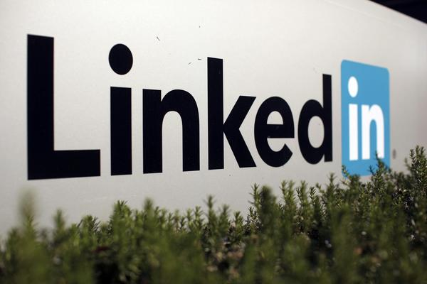The logo of LinkedIn Corporation, a social networking website for people in professional occupations, is seen in Mountain View, California in this February 6, 2013 file picture.