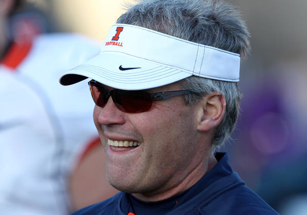 Illinois coach Tim Beckman took heat for a difficult first season at the helm.