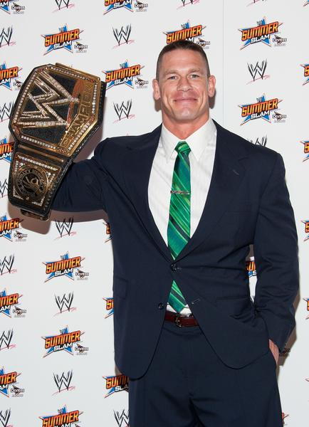 John Cena will defend his WWE title at SummerSlam on Sunday.