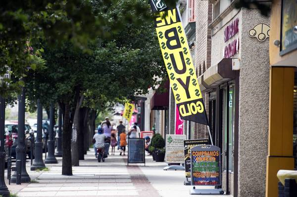 Though their potential plans would have no effect on existing businesses such as these in the 900 block of Hamilton Street, arena zone authority members want to prevent shops they consider undesirable from opening in downtown Allentown.