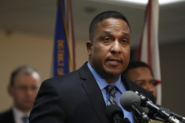 U.S. Attorney Ronald C. Machen Jr. speaks at a press conference regarding federal charges against former U.S. Rep. Jesse Jackson, Jr., in Washington D.C.