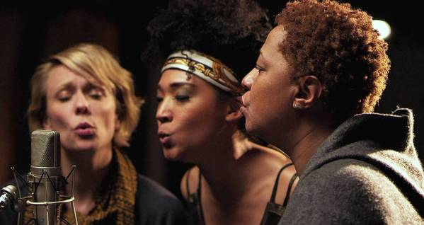 "Jo Lawry, left, Judith Hill and Lisa Fischer in ""20 Feet From Stardom."""