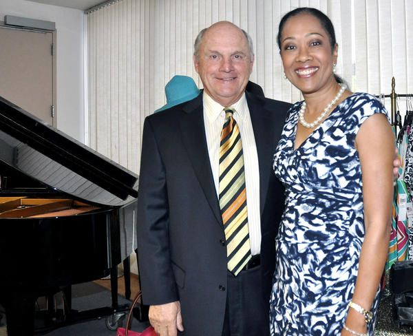Len LaBella, president and chief executive of USC Verdugo Hills Hospital and Yulanda DavisQuarrie, president of the hospital foundation, attend the Verdugo Hills Hospital Women's Council fashion show benefit on April 13.