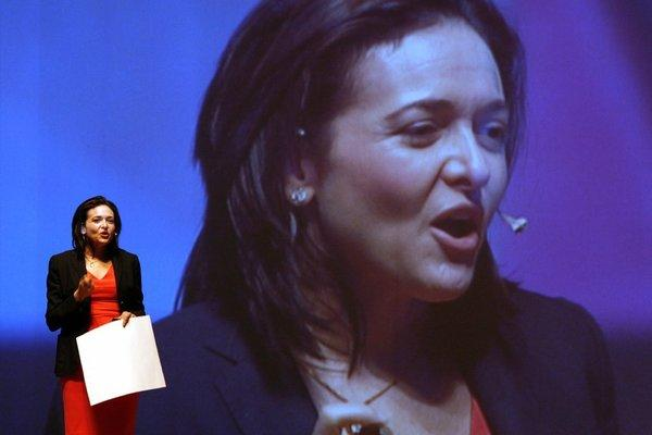 """Sheryl Sandberg, chief operating officer of Facebook, speaks to an audience in Seoul in July while promoting her book: """"Lean In: Women, Work, and the Will to Lead."""""""