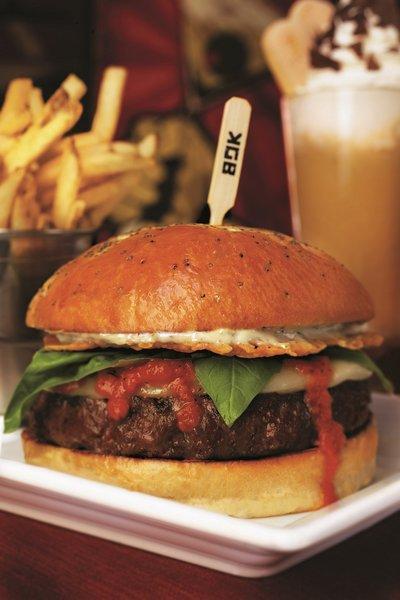 August's special combo at KGB: Kerry's Gourmet Burgers features a Sicilian burger and tiramisu milkshake.