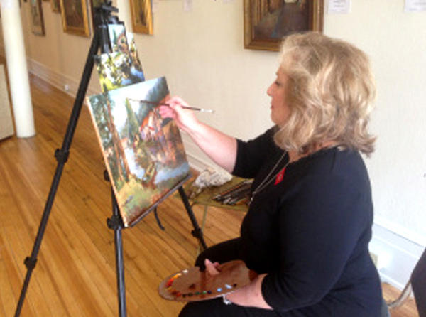 "Waynesboro, Pa., resident Marjorie Tressler will be painting and demonstrating her craft Saturday at the ""Small Town Hosts Big City Art"" gallery at 50 W. Main St. in downtown Waynesboro as part of Destination ARTS!"