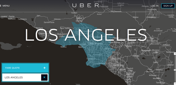 Uber has expanded its Los Angeles service to the South Bay, the Valley and Pasadena.