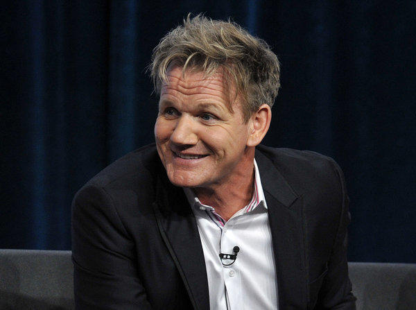 """MasterChef"" producer and co-host Gordon Ramsay at the Fox 2013 summer TCA media tour."