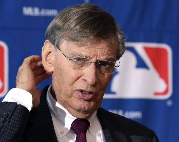 Baseball Commissioner Bud Selig discusses a proposal to significantly expand the use of instant replay technology Thursday at the owners' meetings in Cooperstown, N.Y.
