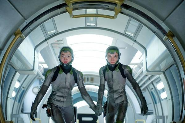 "Asa Butterfield, left, and Hailee Steinfeld star in ""Ender's Game."""