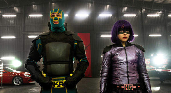 "Aaron Taylor-Johnson and Chloe Grace Moretz in ""Kick-Ass 2."""
