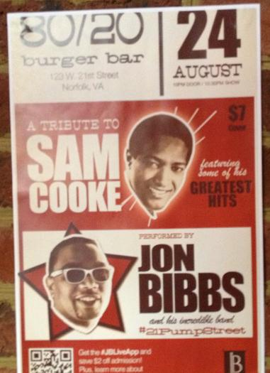 Jon Bibbs will perform in Norfolk honoring soul great Sam Cooke.
