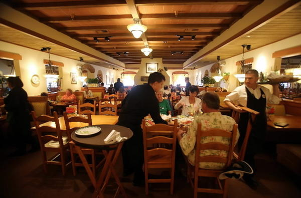 Lunch customers at the Olive Garden in 1604 W. Osceola Parkway in Kissimmee, on Wednesday, July 3, 2013.