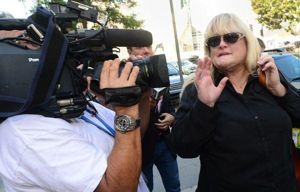 Michael Jackson's ex-wife Debbie Rowe arrives at court in Los Angeles on Thursday, in the ongoing trial of the wrongful-death lawsuit filed by the late singer's mother against concert promoter AEG Live.