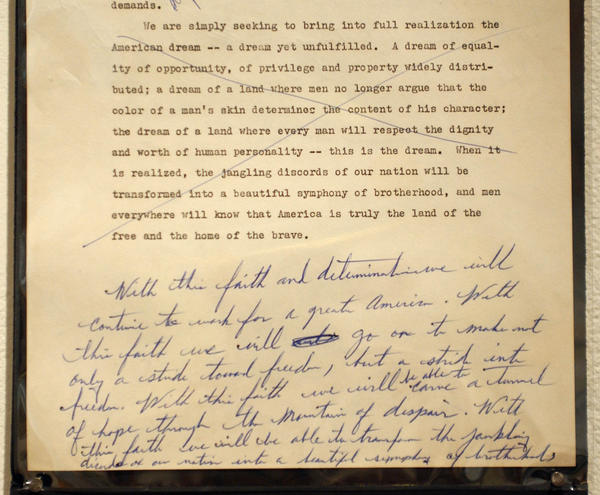 written text of i have a dream speech The text discussed various forms of dream speech aspects of dream speech, modern researchers have been original hand written dream texts are.
