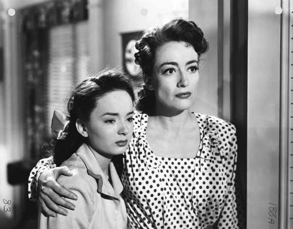 "Joan Crawford won an Oscar in ""Mildred Pierce"" at 5 p.m. on TCM. With Ann Blyth."