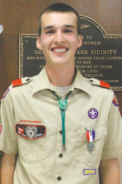 Caleb Martin of Troop 95 in Shady Grove, Pa., was awarded the rank of Eagle Scout in a ceremony recently at the Shady Grove Community Center.