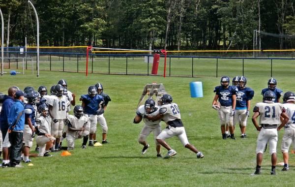 Pocono Mountain West football team prepares for 2013 season.