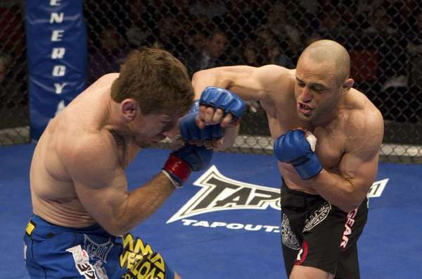 """File Photo: Glendale-trained MMA fighter Manny Gamburyan will take on former teammate from """"The Ultimate Fighter"""" Cole Miller Saturday in a three-round featherweight bout as part of UFC Fight Night 26  Shogun vs. Sonnen at the TD Garden in Boston."""