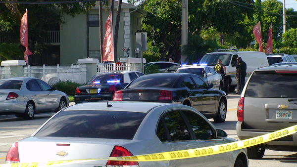 Broward Sheriffs officials shut down the 5200 block of N. Dixie Highway following a fatal deputy-involved shooting.