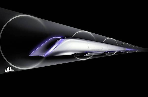 A drawing shows the conceptual plan for the Hyperloop, a solar-powered, 700-mph tubular transportation system designed by Tesla Motors and SpaceX chief Elon Musk. He estimates the Hyperloop would cost $6 billion to build.