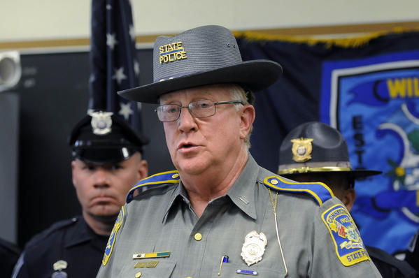 Two officers have both traveled to conferences in the past few months to talk about the Sandy Hook investigation, but state police spokesman Lt. J. Paul Vance (pictured) said none of the overtime for either officer includes their attendance.