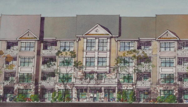 A New Jersey developer is hoping to put 450 high-end apartments, two retail centers and a boutique grocery store behind St. Luke's West End Medical Center off Cetronia Road in South Whitehall.
