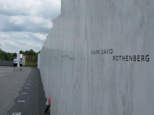 Each victim of the Flight 93 plane crash is memorialized on a wall of white marble panels at the Flight 93 National Memorial near Shanksville, Pa.